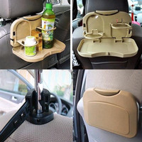 Meja Lipat Mobil Car Multifunction Foldable Seat Back Meal Table