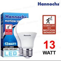 lampu led hannochs motion sensor gerak 13 watt