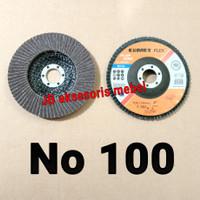 "FLAP DISC 4"" No 100 CUMET / MATA GERINDA AMPLAS SUSUN No 100 CUMET"