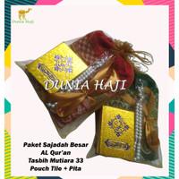 Paket Souvenir Sajadah Besar Parcel ( STA ) + Tile+Tasbih + AL Qur'an