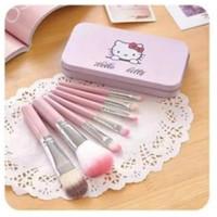 Brush set hellokitty 7in1 / kuas makeup hellokitty / brush makeup
