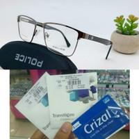 Kacamata minus pria polic Free lensa Gia Transition clasic minus/cly