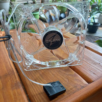Fan cpu cooling blue led 12cm merk zalman produk original