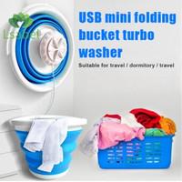 USB Mini Ultrasonic Turbine Washer Ember Lipat 10 L Portable Baju Kaos