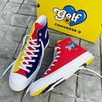 SEPATU CONVERSE X GOLF WANG CHUCK HIGH TRIPANEL MULTICOLOR ORIGINAL - Biru, 40