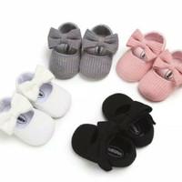 sepatu prewalker bayi anak perempuan motif pita