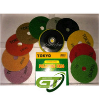 """Paket Hemat Order 10 Pcs Pad Diamond Polishing 4 """" Merk Tokyo"""