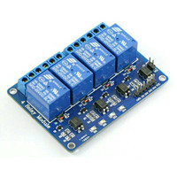 Relay 4 channel relay module, relay control board with optocoupler