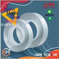 MAGIC NANO TAPE Double Tape Selotip 2 Sisi Super Kuat Panjang 3 Meter