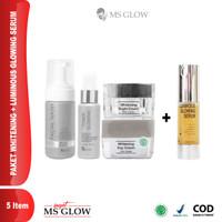 Paket Whitening Ms Glow+Serum Luminous