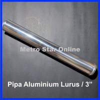 "Pipa Turbo Intercooler Aluminium Lurus 3"""