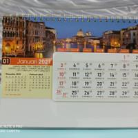 kalender meja spiral 2021 kota dunia