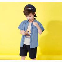 Denim Plain Top for Toddlers / Atasan Kemeja Jeans Anak