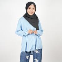 Daily Outfits Kemeja Wanita Denim Blue Premium Quality