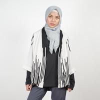 Daily Outfits Kimono Outer Motif Black White Abstract Premium Quality