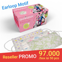 Masker Skrineer Girly Earloop 3ply isi 50 pcs Original