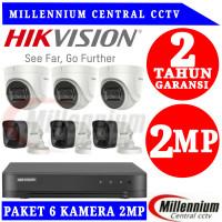 Promo Paket CCTV HIKVISION 6 CH + HDD 2TB Komplit Tinggal Pasang