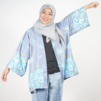 Daily Outfits Kimono Outer Motif Katun Denim Premium Quality