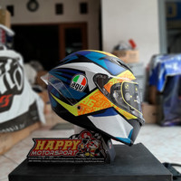 Helm Fullface AGV Italy Corsa R Joan Mir Winter Test 2019 DOT Eurofit
