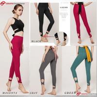 Celana Legging Panjang Wanita High Waist Ballet untuk Yoga Gym - MAGENTA, L