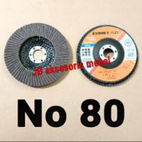"""FLAP DISC 4"""" No 80 merk CUMET / MATA GERINDA AMPLAS SUSUN No 80 CUMET"""