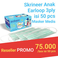 Masker Skrineer Anak Earloop Multi Fungsi 3ply isi 50 pcs Original