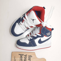 Sepatu anak Nike Jordan 1 White Navy Sneakers Anak