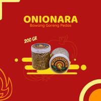 Bawang Goreng Pedas ASLI Premium Tanpa Tepung Onionara Renyah 200gr