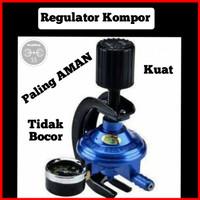 Regulator Kompor Gas Plus Meteran/ Regulator Pengaman Gas Kompor