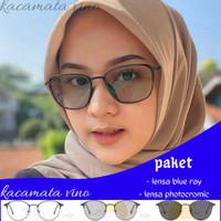 kacamata anti radiasi photocromic wanita - blck dof, anti blue ray