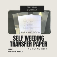 Transfer Paper Dark Self Weeding No cut no weed Freestyle German A3