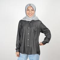 Daily Outfits Kemeja Wanita Denim Black Premium Quality