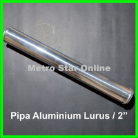 "Pipa Turbo Intercooler Aluminium Lurus / 2"""