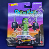 Hot Wheels Premium Rick and Morty Ford Transit Super Van Gold