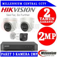 Paket Cctv Hikvision 4 Channel 3 Kamera Lengkap