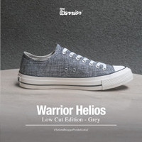 Sepatu Warrior Helios Grey Low Original - Grey, 36