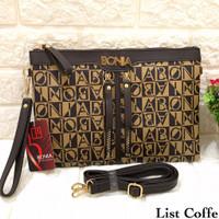 dompet wanita tas wanita handbag bonia premium quality - list coffe