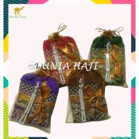Paket Souvenir Sajadah Besar Turki Parcel ( PPT ) +Tile+Tasbih Mutiara