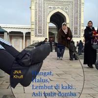 kaos kaki kulit haji umroh khuff jna - Hitam, 35
