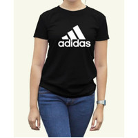 Kaos Distro Olahraga Wanita Premium Adi Kaos Custom Murah - L