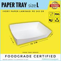 FOOD TRAY / PAPER TRAY / OPEN TRAY / NAMPAN KERTAS size L
