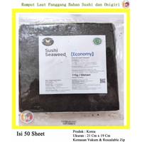 Manjun Yaki Sushi Nori Rumput Laut Roasted Seaweed Economy 50 Lembar