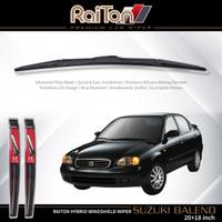 """Raiton Sepasang Wiper Hybrid Kaca Depan Mobil Suzuki Baleno 20"""" & 18"""""""