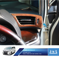 JSL Cover Lis AC All New Alphard Air Cond Cover Wood