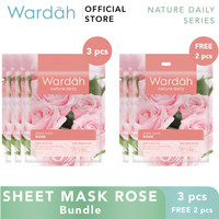 Wardah Sheet Mask Rose Bundle 3+2