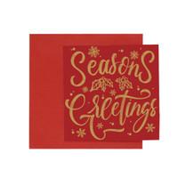 Kartu Natal Christmas Harvest Joy Xmas - Red SG