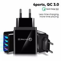 Adaptor Charger 4 Port USB QC 3.0 plus LED 33W