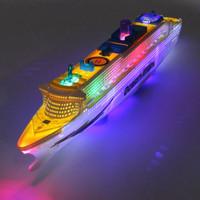 Mainan Anak Kapal Ocean Liner Cruise Boat Electric Toy Flashing Led