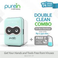 Purein Baby Bottle UV Sterilizer & Dryer Box with Ozone + disinfect - Biru Muda
