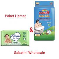 GOON SMILE BABY PANTS S40 dan tisu bayi/ganti popok - Paket Hemat